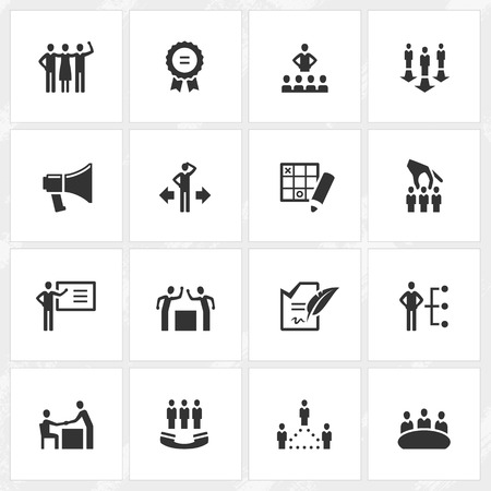 Management vector icons. File format is EPS8.  イラスト・ベクター素材