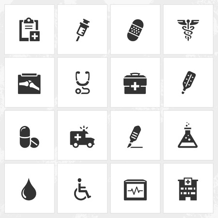 file format: Healthcare vector icons. File format is EPS8. Illustration
