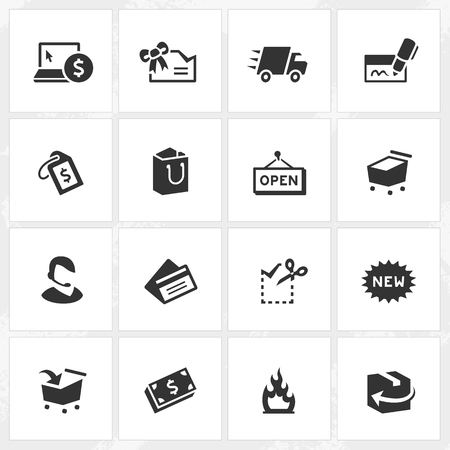 Shopping vector icons. File format is EPS8.