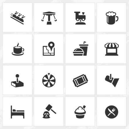 whack: Theme park vector icons. File format is EPS8.