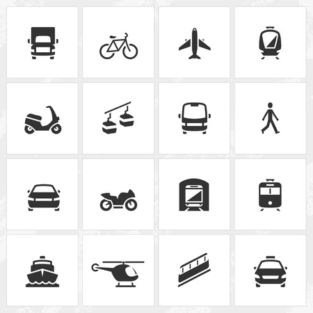 Transport vector icons. File format is EPS8.