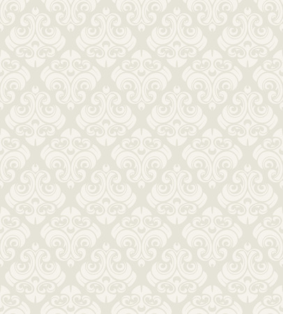 Seamless vintage vector pattern. Subtle beige color. Ilustração