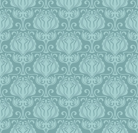 Seamless vintage vector floral wallpaper pattern. Vector format. Ilustração