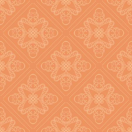 Seamless vector wallpaper pattern. Soft orange color.