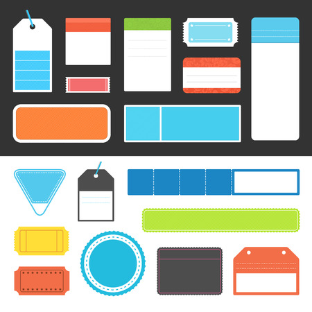Collection of vector tags and labels.