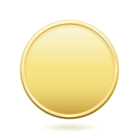 room for text: Blank gold coin with room for text. File format is EPS8. Illustration