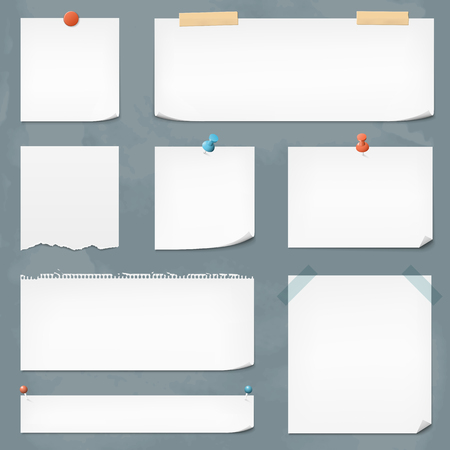 paper notes: Collection of vector paper notes. File format is EPS10.