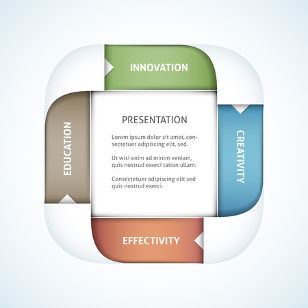 coherence: Business presentation vector template. File format is EPS10.
