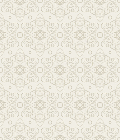 Seamless vector wallpaper with thin lines creating a stylized floral pattern.