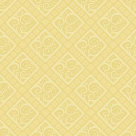 Seamless vector wallpaper pattern. Soft yellow color. Ilustração