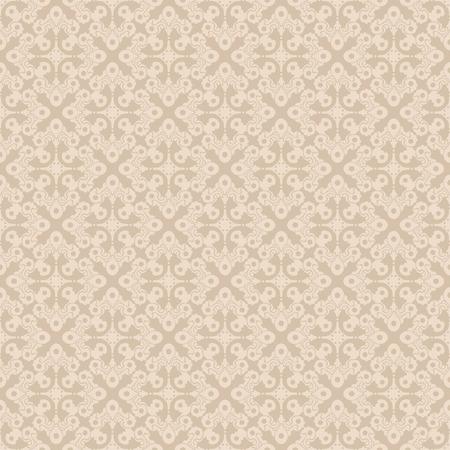 Beige seamless vector wallpaper pattern in two colors. Ilustração