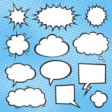burbuja: Discurso del cómic burbujas. Formato de archivo es EPS8. Vectores