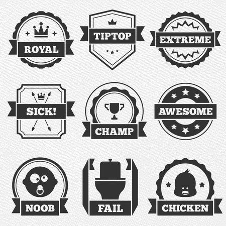 Nine funny awards. File format is EPS8. Ilustração