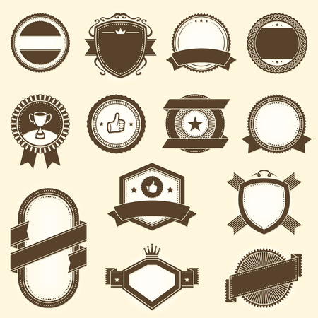 Collection of vintage vector labels. File format is EPS8.