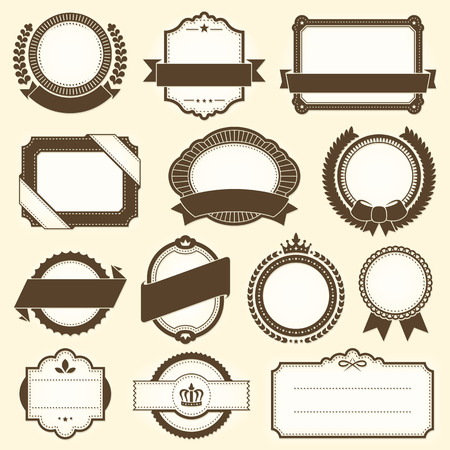 Collection of vintage labels. File format is EPS8.