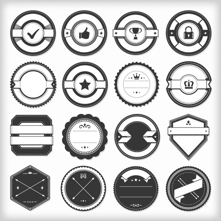 Collection of vector retro labels. File format is EPS8.