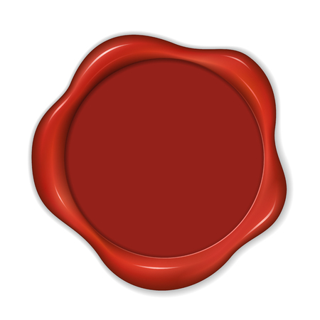 Christmas wax seal with copy space in the middle.  File format is EPS8. Illustration