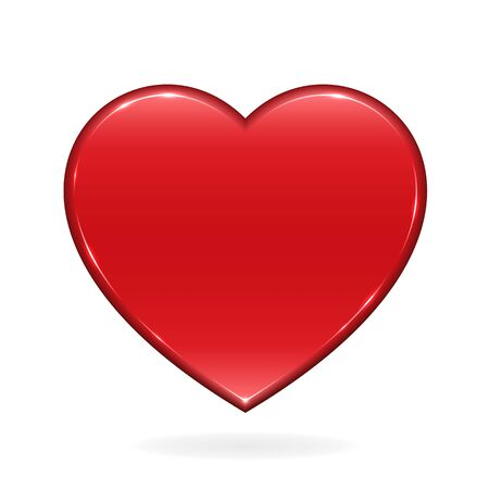 Shiny red vector heart. File format is EPS10.