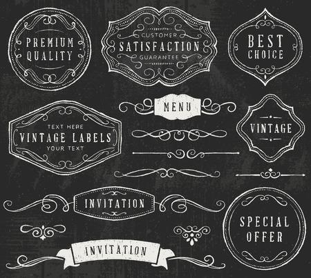 ornate: Chalkboard design elements. Only solid fills used.