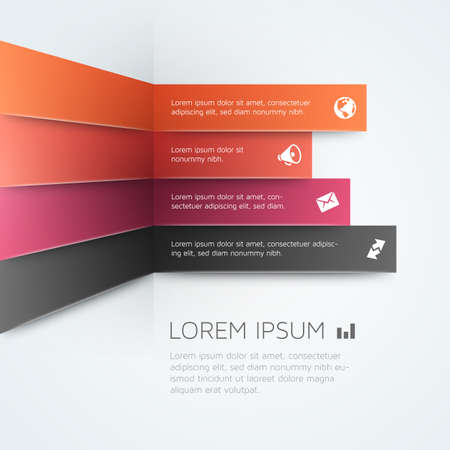 Business vector template with warm purple and orange colors.