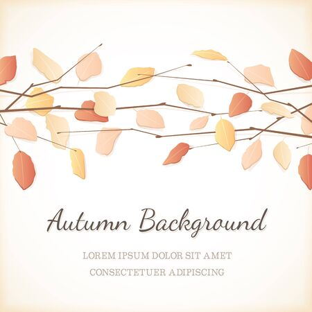 november: Autumn background with copy space at the bottom.