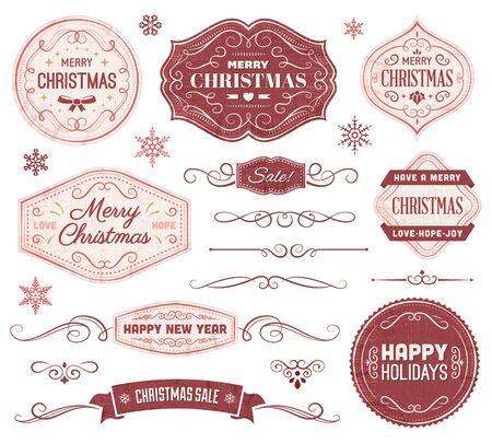 크리스마스 벡터 레이블 및 장식품의 컬렉션입니다. 파일 형식은 EPS10입니다.