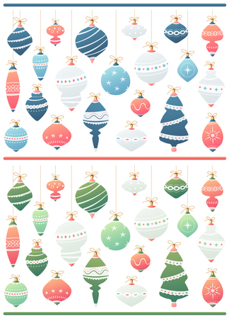 Set of 21 Christmas balls in two yummy looking color variations.