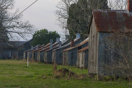 Slave quarters at the Laurel Valley Sugar Plantation near Thibodaux, Louisiana, was used as a set for the feature film