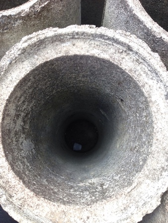 constrution: Cement pipe at a constrution yard