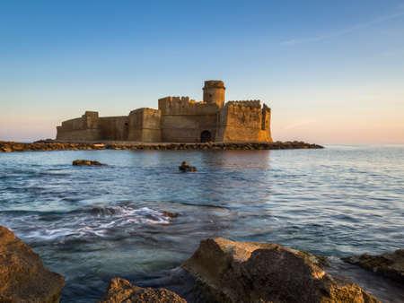 View of italian castle in Le Castella, Italy Editorial