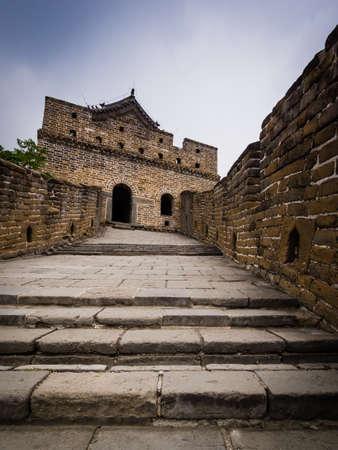 mutianyu: View of Great Wall in Mutianyu, Beijing. China.