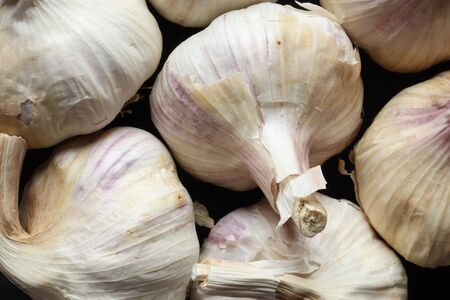 Photography of many cloves of garlic for food background Reklamní fotografie