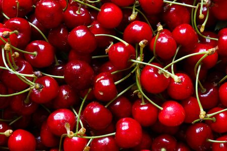 Photography of cherries for food background Imagens