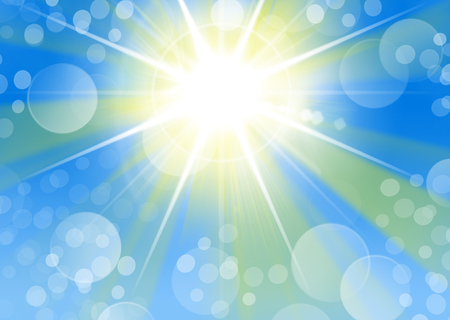 Portrait Hintergrund mit Starburst Licht und Bokeh Standard-Bild - 81381812