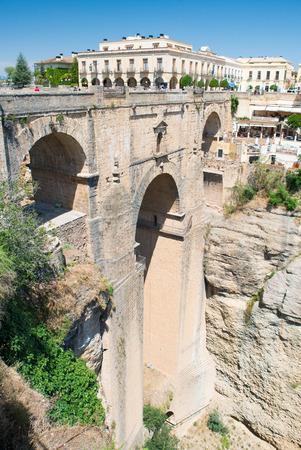 Neue Brücke Puente Nueva, Ronda, Andalusien, Spanien Standard-Bild - 81381821