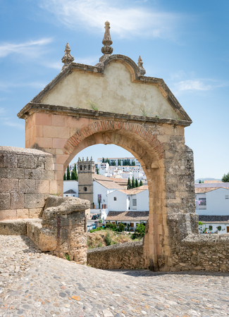 The Felipe V Arch to the Old Bridge in Ronda, Andalusia, Spain