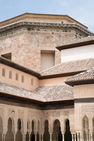 Hall of the Two Sisters (Sala de Dos Hermanas) at the Alhambra Palace and fortress located in, Granada, Andalusia, Spain. Publikacyjne
