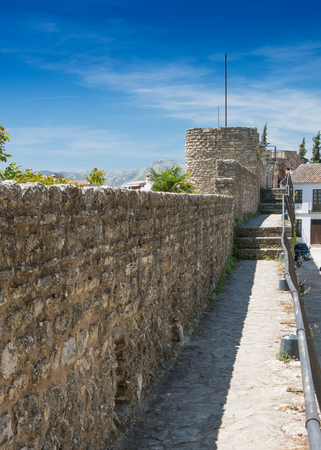 Arabic City Wall n the City of Ronda in Spain's Malaga province, Andalusia