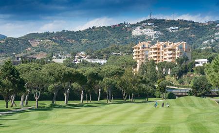 Golfplatz in Marbella, Costa del Sol, Spanien Standard-Bild - 81588178
