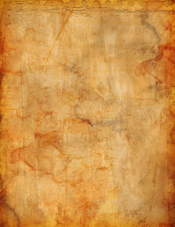 Grunge parchment background for flyer or poster. Stained and aged