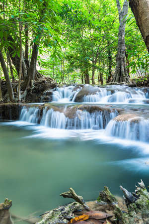 Huay Mae Khamin Waterfalls, Sri Nakarin National Park, Kanchanaburi province, Thailand Stock Photo - 27156922