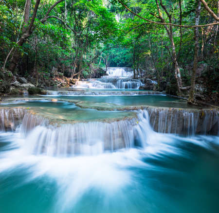 Layer of waterfall at Huay Mae Khamin photo