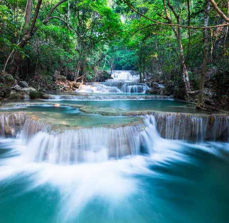 khamin: Layer of waterfall at Huay Mae Khamin Stock Photo