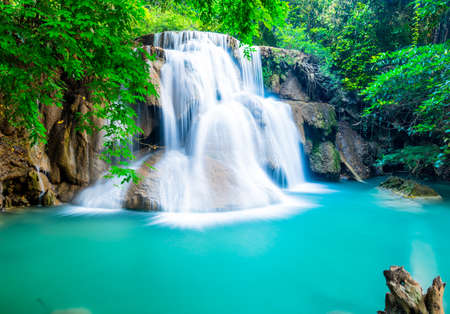 khamin: Amazing waterfall at Huay Mae Khamin Stock Photo