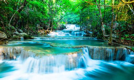 khamin: Scene of waterfall at Huay Mae Khamin