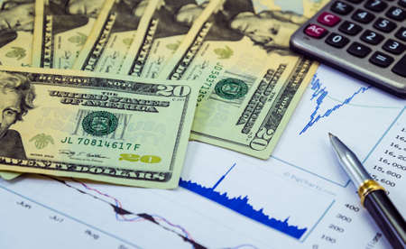 Invest and earn money from stock market Banque d'images