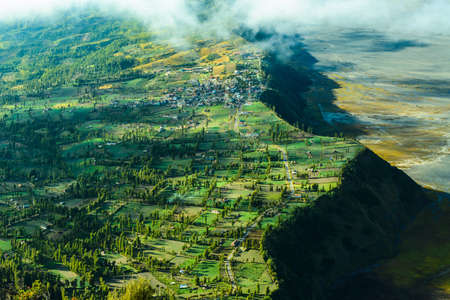 Highland village near Mount Bromo Volcano