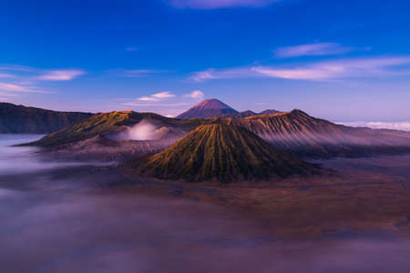 active volcano: Mount Bromo is an active volcano located in East Java, Indonesia. Stock Photo