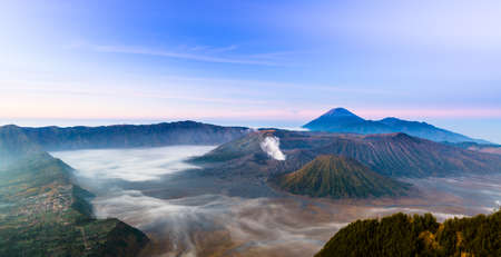 tengger: Mount Bromo is an active valcano and part of the Tengger massif, in East Java, Indonesia