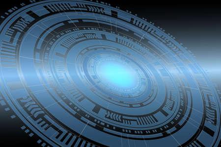 ellipse: Ilustración de concepto abstracto de tecnología.